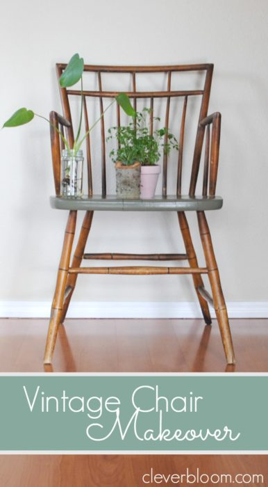 Learn how to make-over an old chair with minimal work. A little paint can add a lot of character!