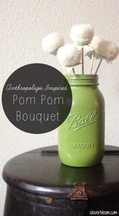 Anthropologie Inspired~Pom Pom Bouquet