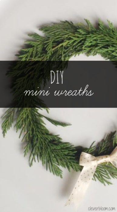 DIY Mini Wreaths