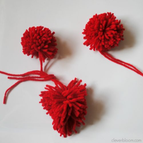 This Valentine's Pom Pom Heart Bunting is so cute! It's really unique and so fun to make. Visit cleverbloom.com for a tutorial with lots of step by step pictures.