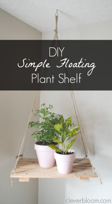 This is so simple and so perfect for small spaces. Click here for instructions on how to make this Floating Plant Shelf.