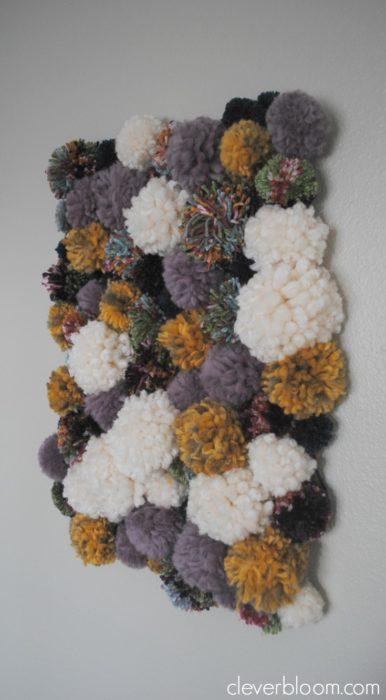 Pom Pom Wall Hanging pom pom wall hanging - clever bloom