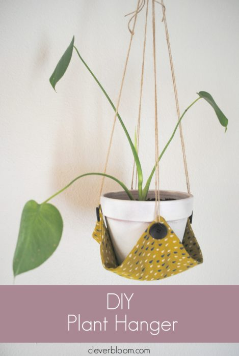 This DIY Plant Hanger is such a fun way to display your favorite plant! Grab that fabric you have laying around the house and visit cleverbloom.com for a full tutorial.