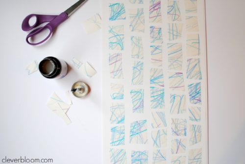 Kid's Craft Squares Wall Art is a fun project for you and the kids!