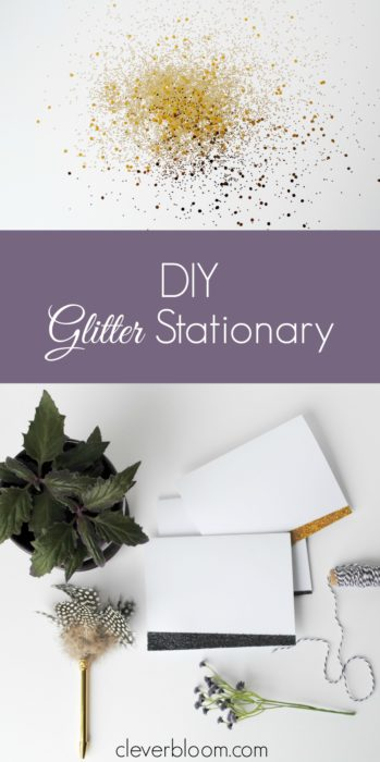 DIY Glitter Stationary is so fun! It's sure to make anyone's day! Perfect for holidays, birthdays, and more.