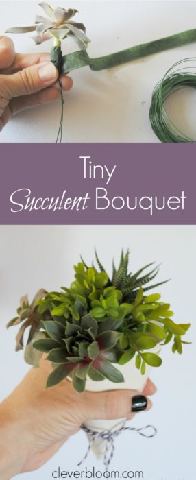 Make a Tiny Succulent Bouquet for any occasion! And when you're done with the bouquet re-pot the succulents! Win/Win!!