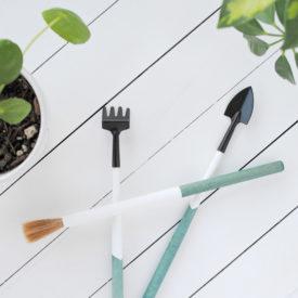 DIY Dip Dyed Plant Tools